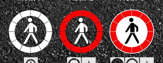 Verbot für Fussgänger